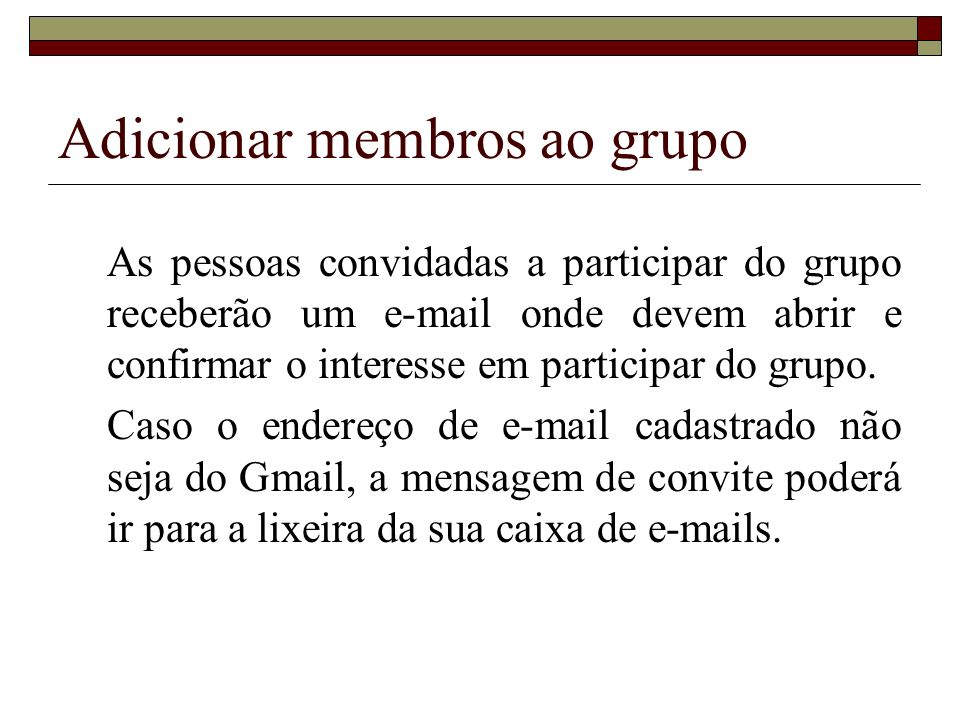 Adicionar membros ao grupo