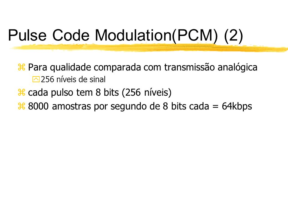 Pulse Code Modulation(PCM) (2)