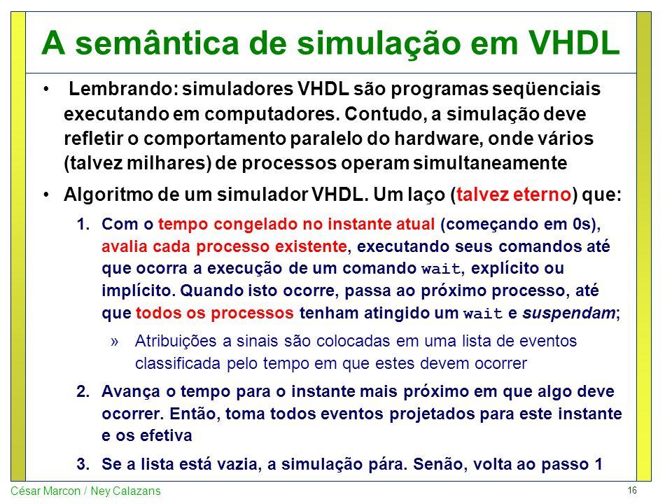 A semântica de simulação em VHDL