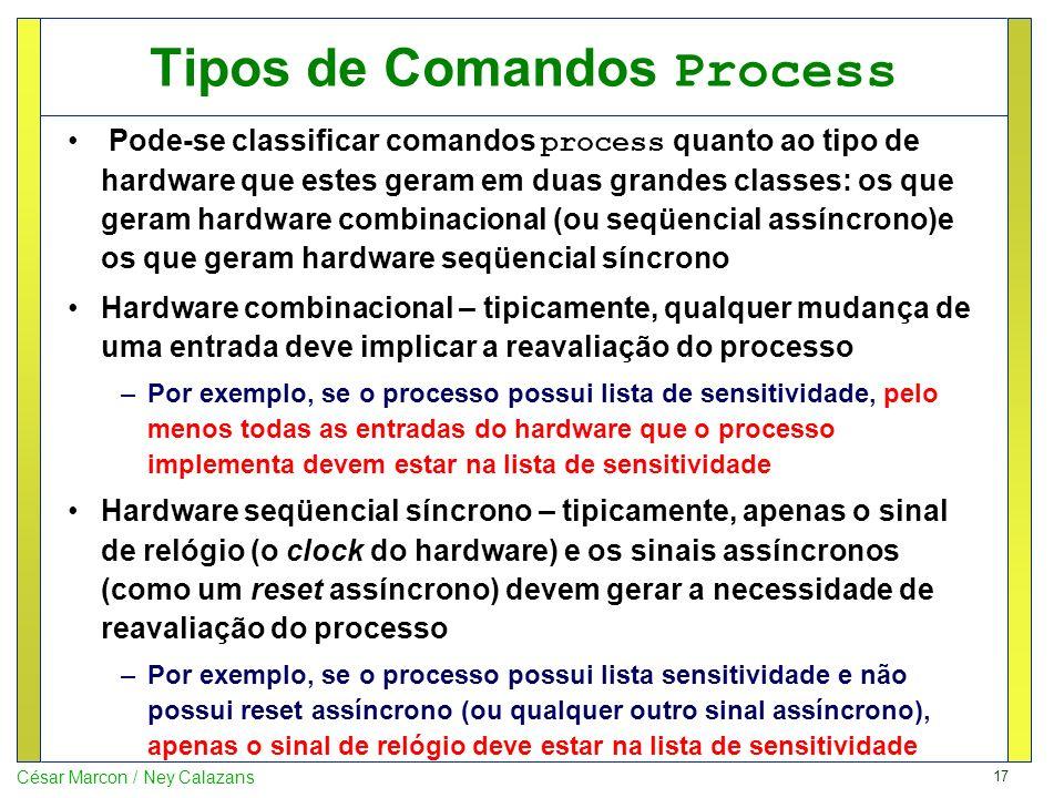 Tipos de Comandos Process
