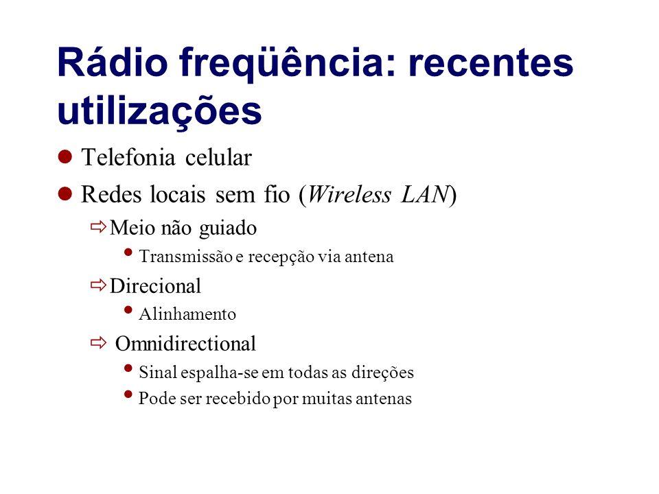 Rádio freqüência: recentes utilizações