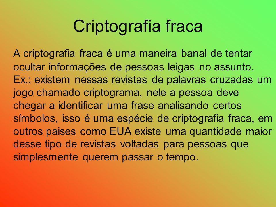 Criptografia fraca