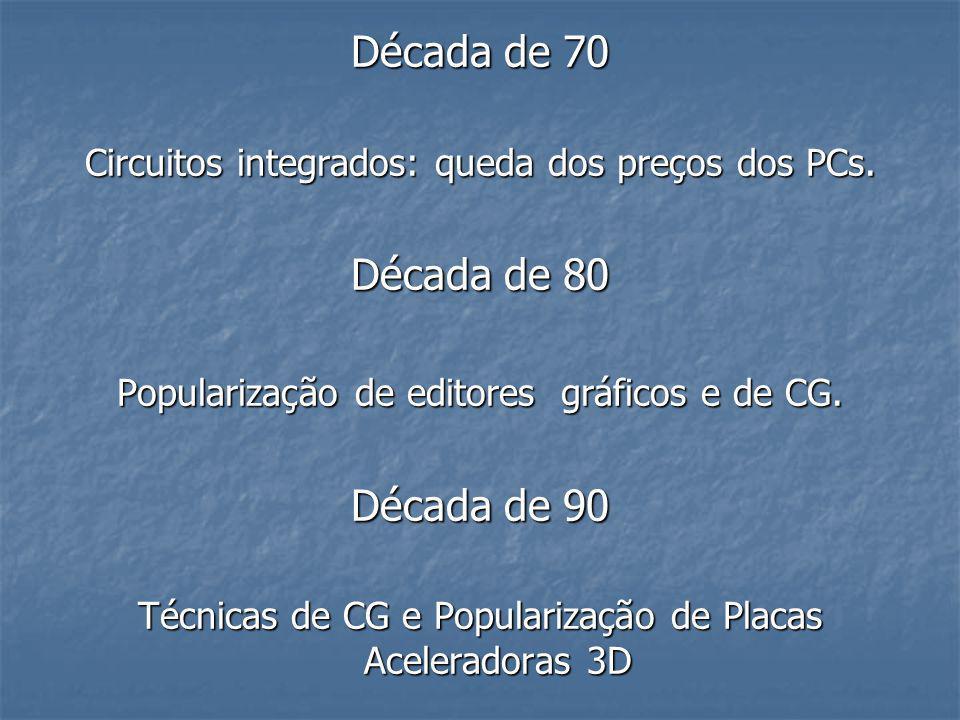 Década de 70 Década de 80 Década de 90
