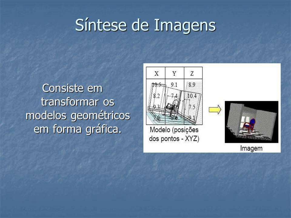 Consiste em transformar os modelos geométricos em forma gráfica.
