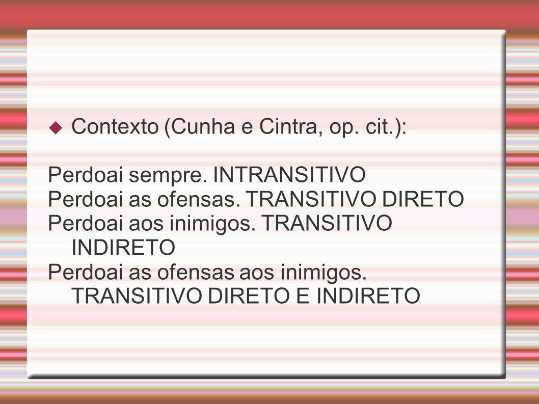 Contexto (Cunha e Cintra, op. cit.):
