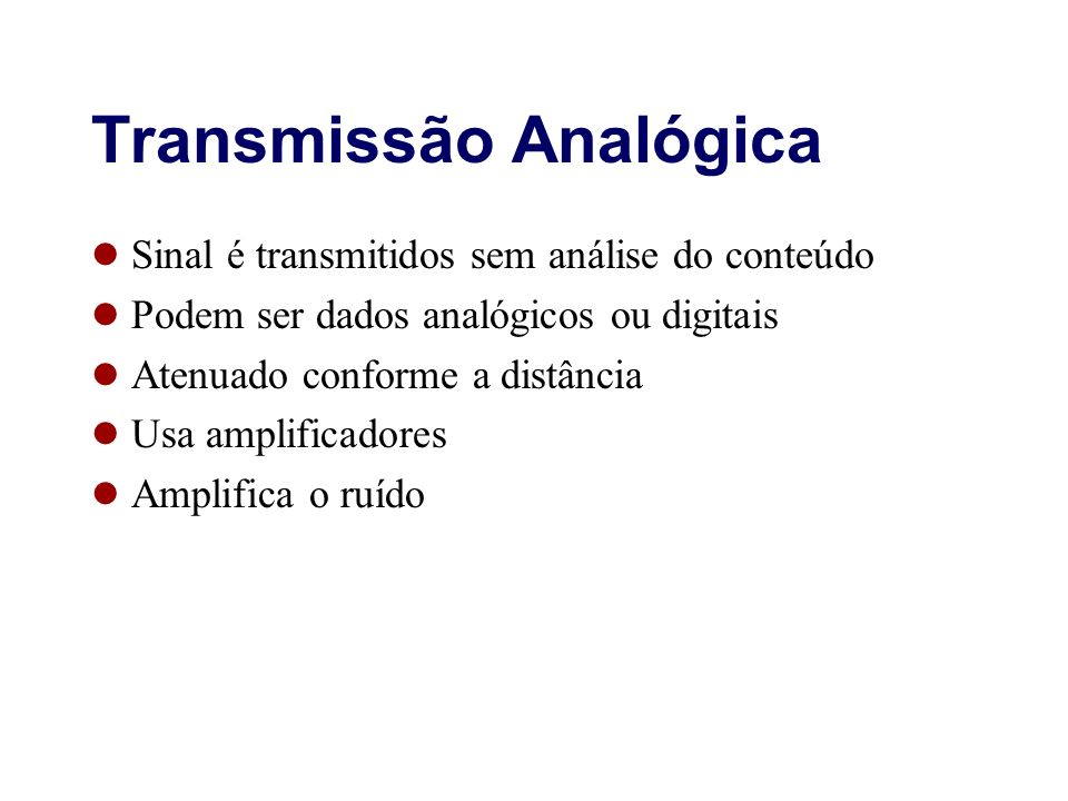 Transmissão Analógica