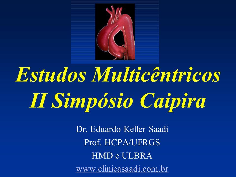Estudos Multicêntricos II Simpósio Caipira