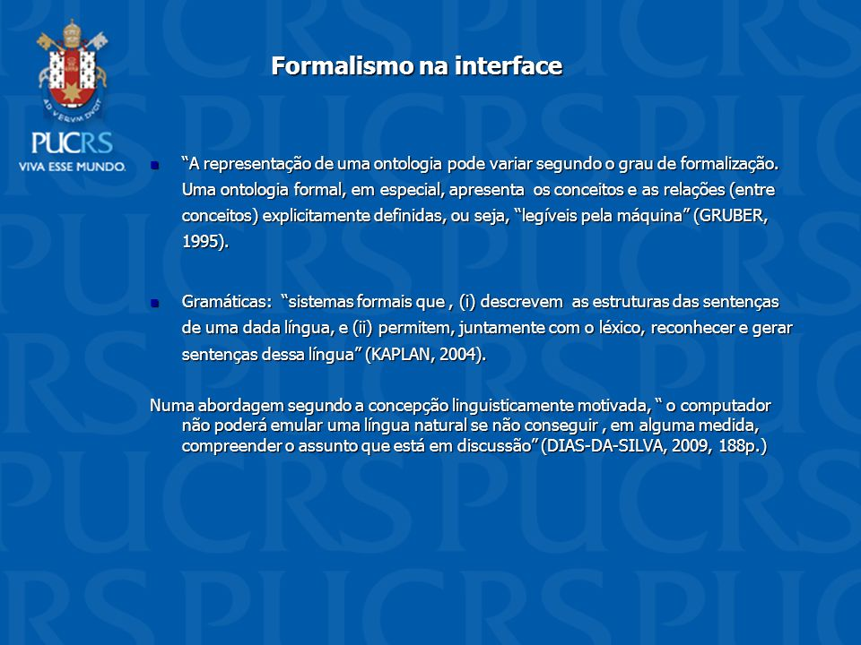 Formalismo na interface
