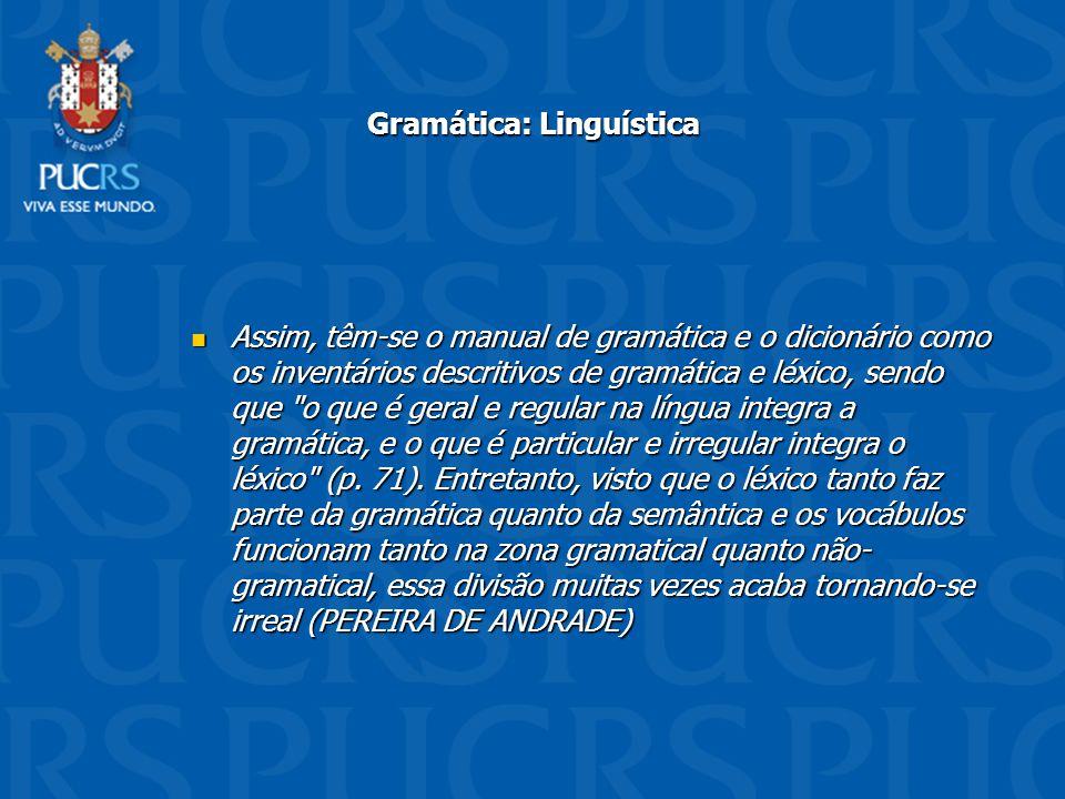 Gramática: Linguística