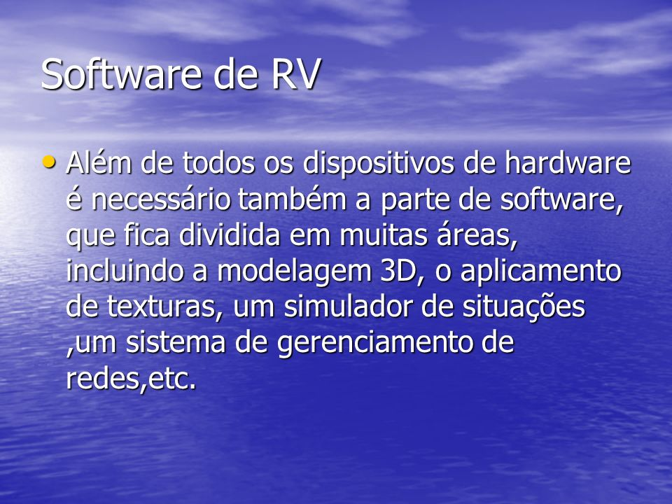 Software de RV