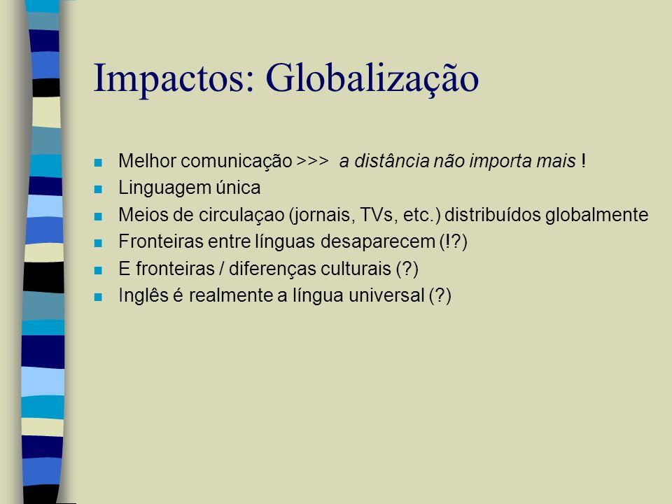 Impactos: Globalização