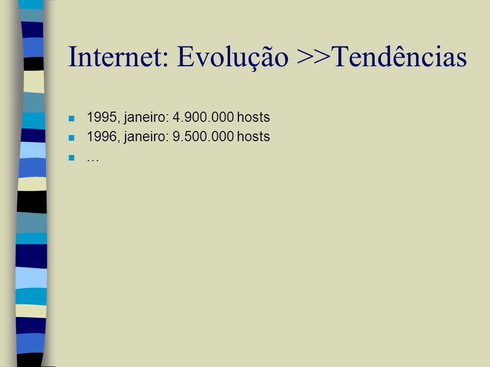 Internet: Evolução >>Tendências