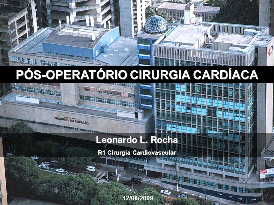 PÓS-OPERATÓRIO CIRURGIA CARDÍACA R1 Cirurgia Cardiovascular