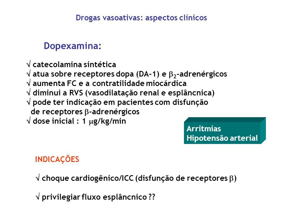 Drogas vasoativas: aspectos clínicos