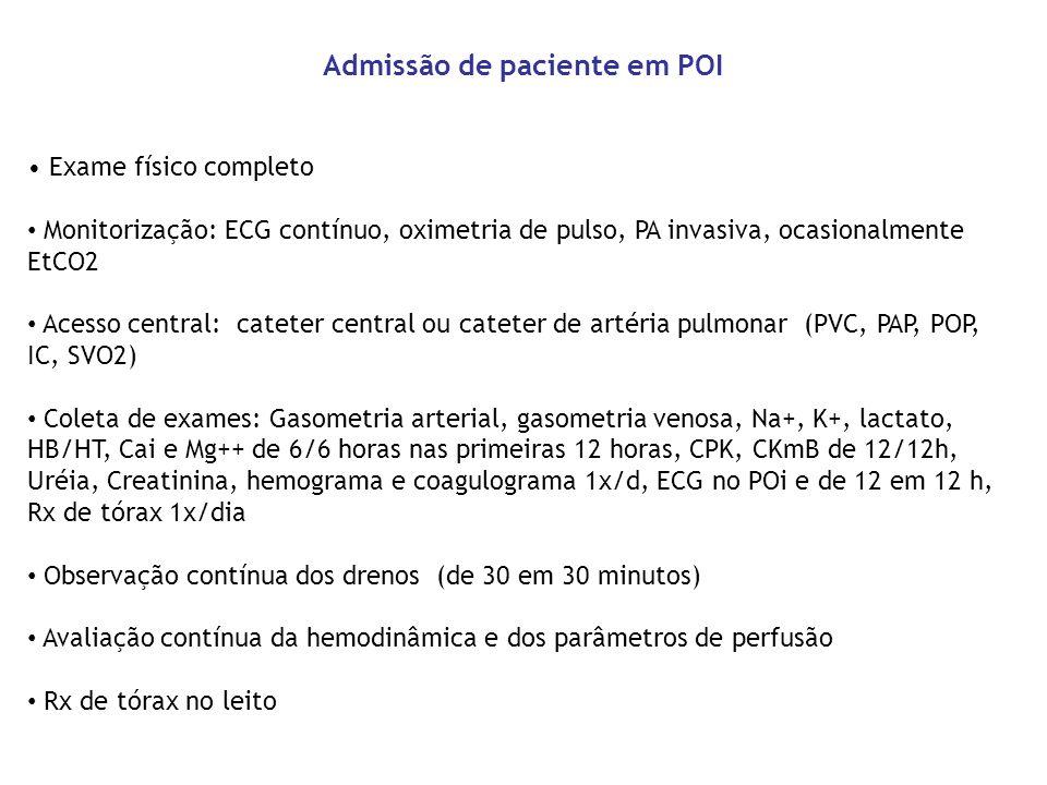 Admissão de paciente em POI