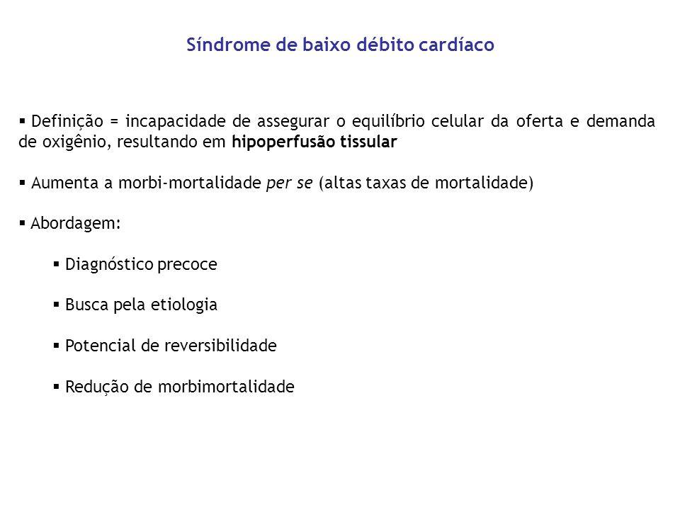Síndrome de baixo débito cardíaco
