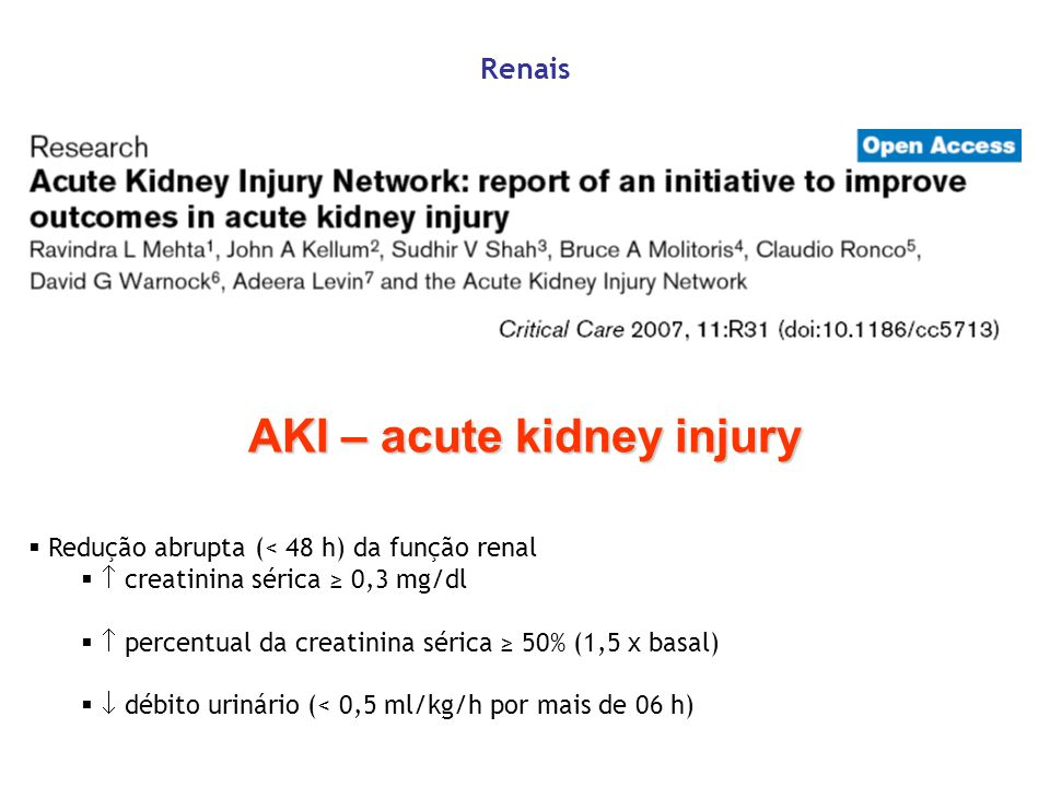 AKI – acute kidney injury