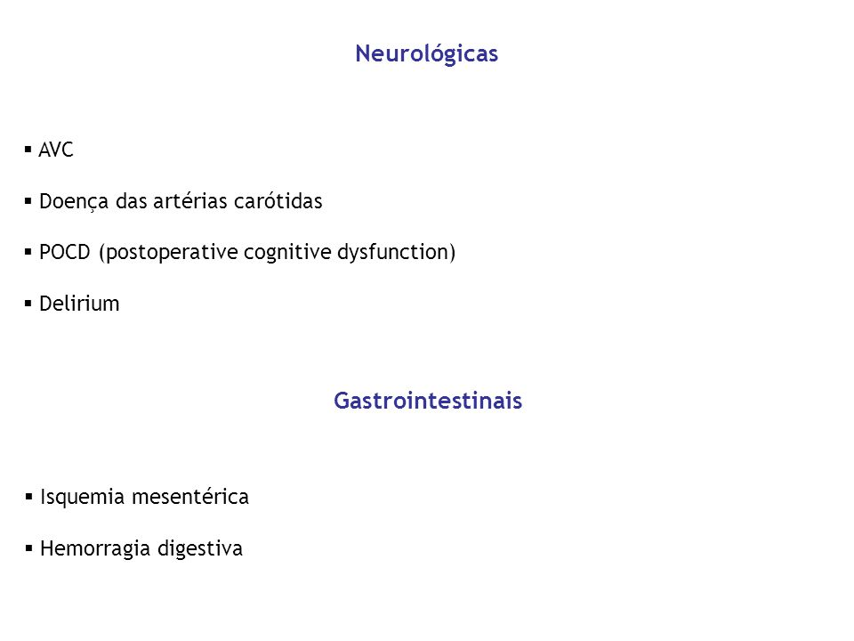 Neurológicas Gastrointestinais