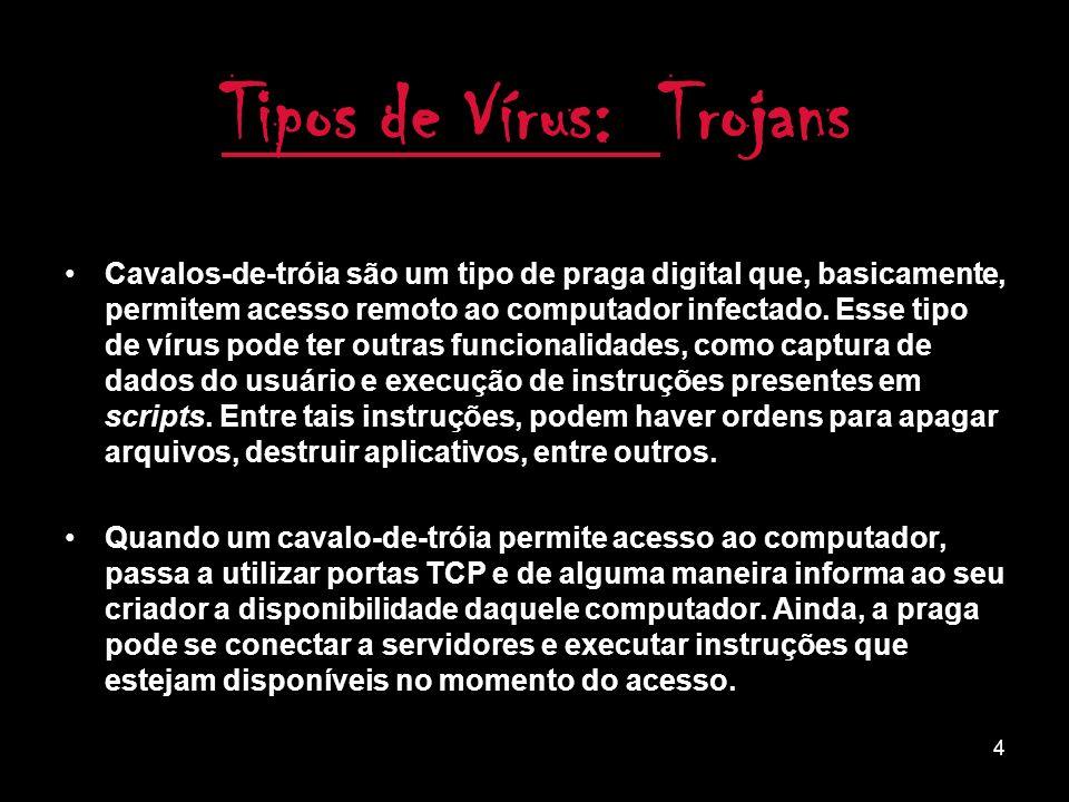 Tipos de Vírus: Trojans