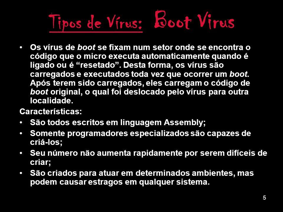 Tipos de Vírus: Boot Virus