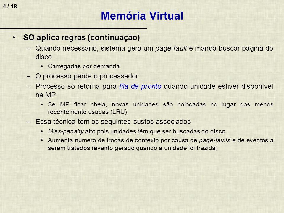 Memória Virtual SO aplica regras (continuação)