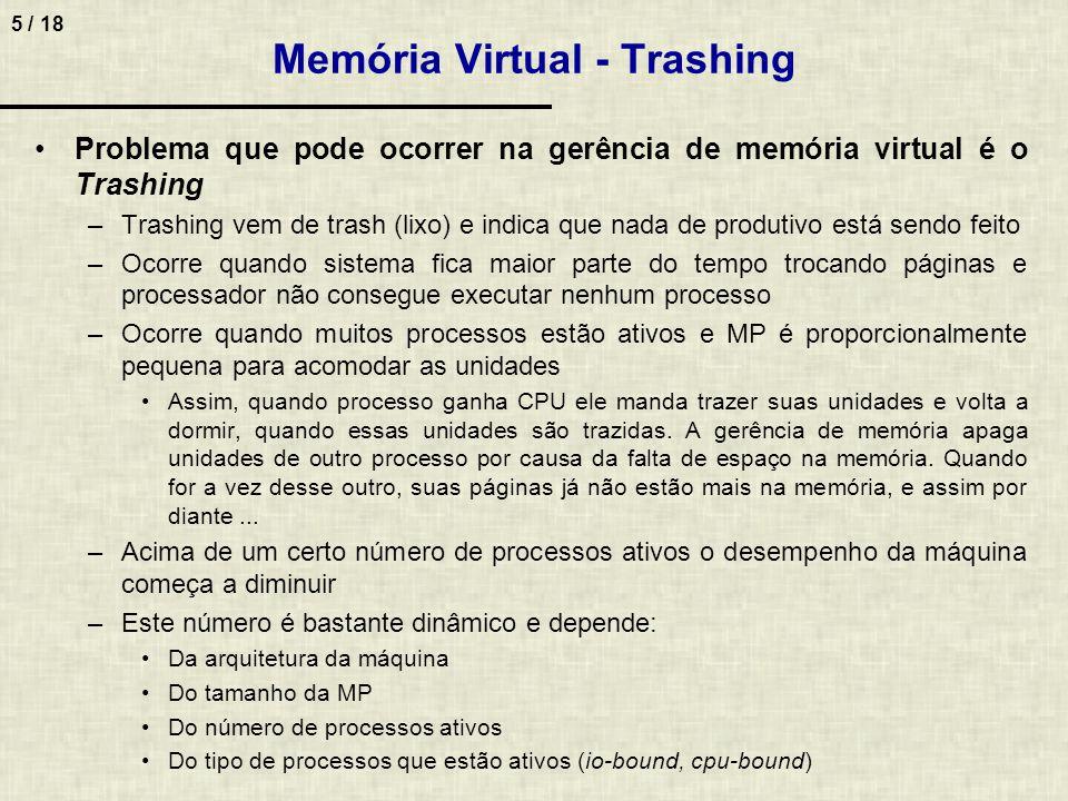 Memória Virtual - Trashing