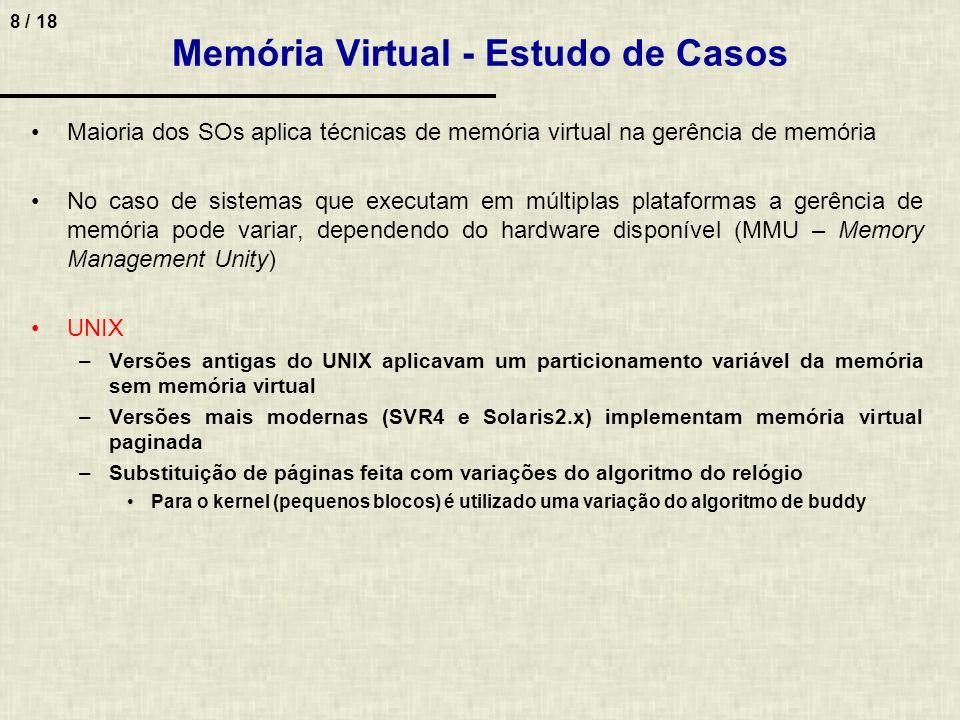 Memória Virtual - Estudo de Casos