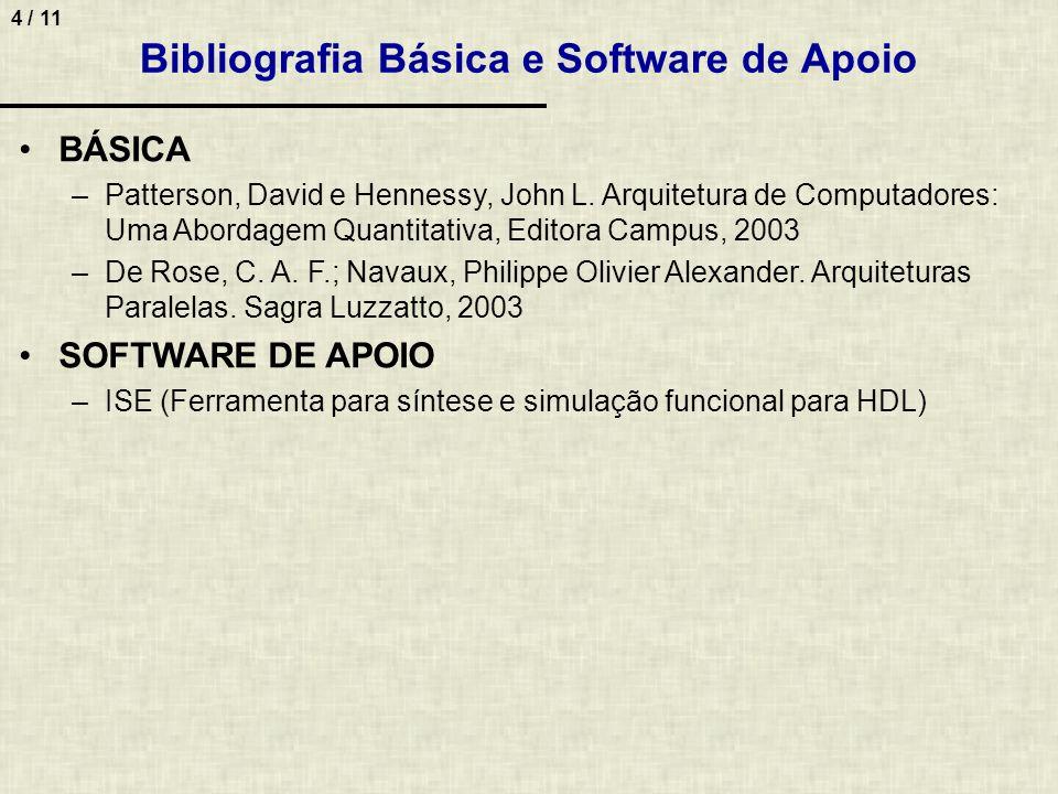 Bibliografia Básica e Software de Apoio