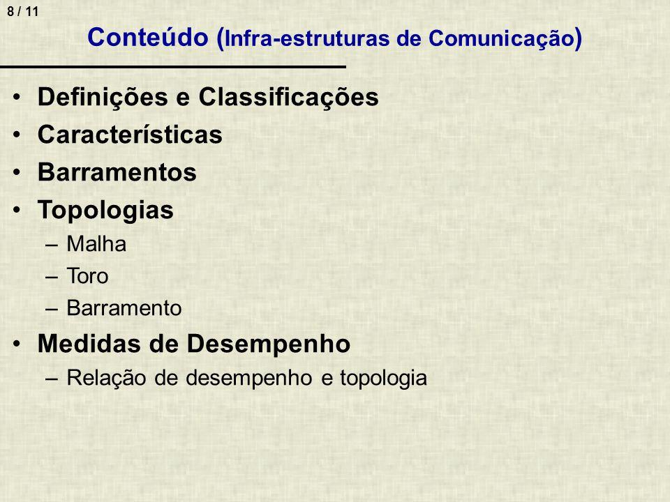 Conteúdo (Infra-estruturas de Comunicação)
