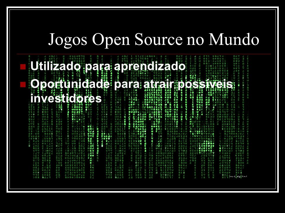 Jogos Open Source no Mundo