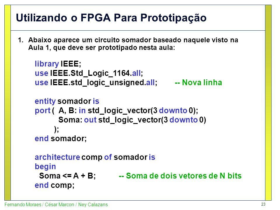 Utilizando o FPGA Para Prototipação