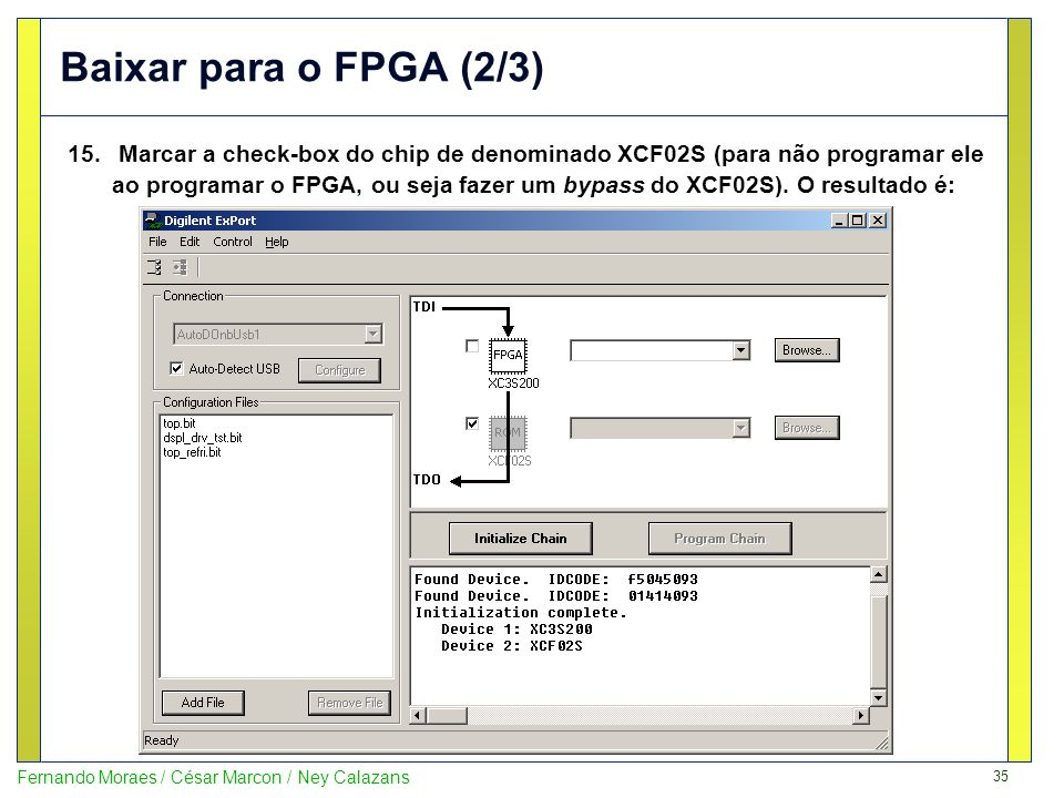 Baixar para o FPGA (2/3)