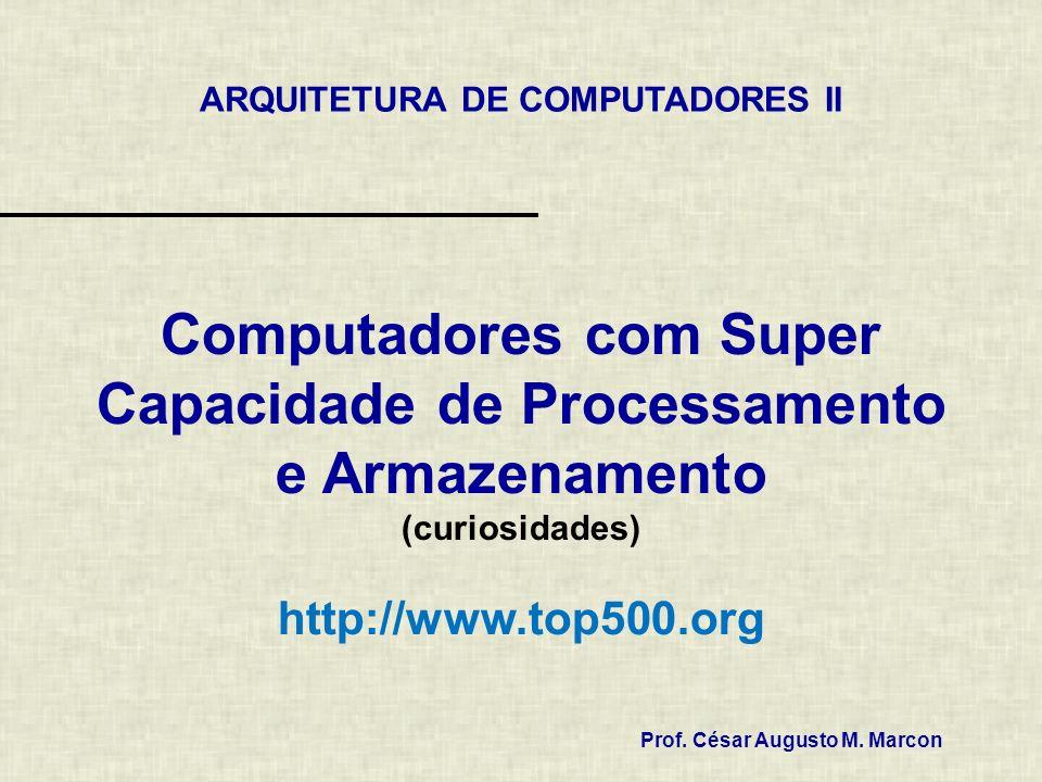 Computadores com Super Capacidade de Processamento e Armazenamento