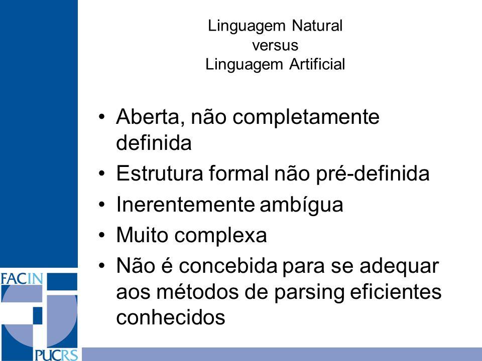 Linguagem Natural versus Linguagem Artificial