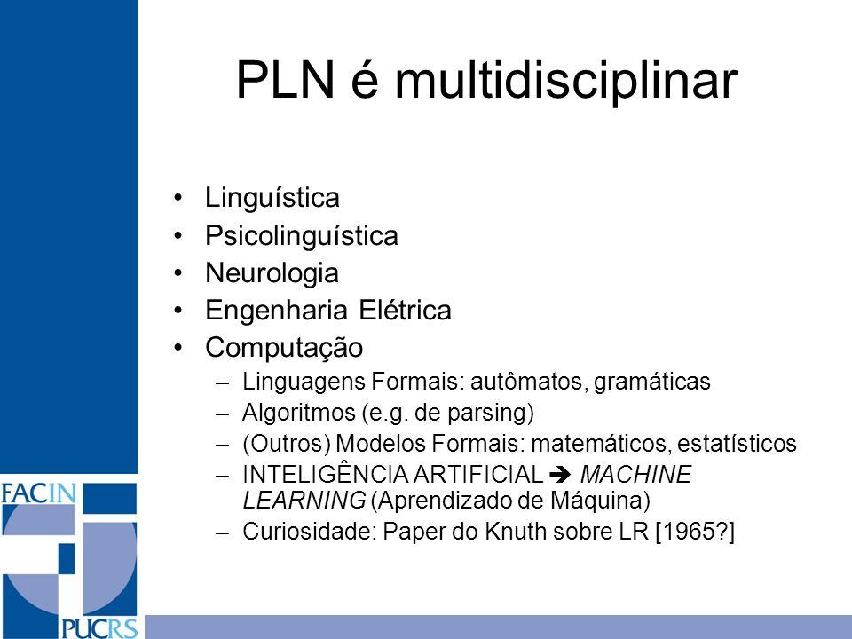 PLN é multidisciplinar