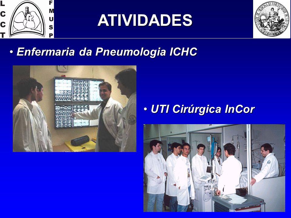 ATIVIDADES Enfermaria da Pneumologia ICHC UTI Cirúrgica InCor