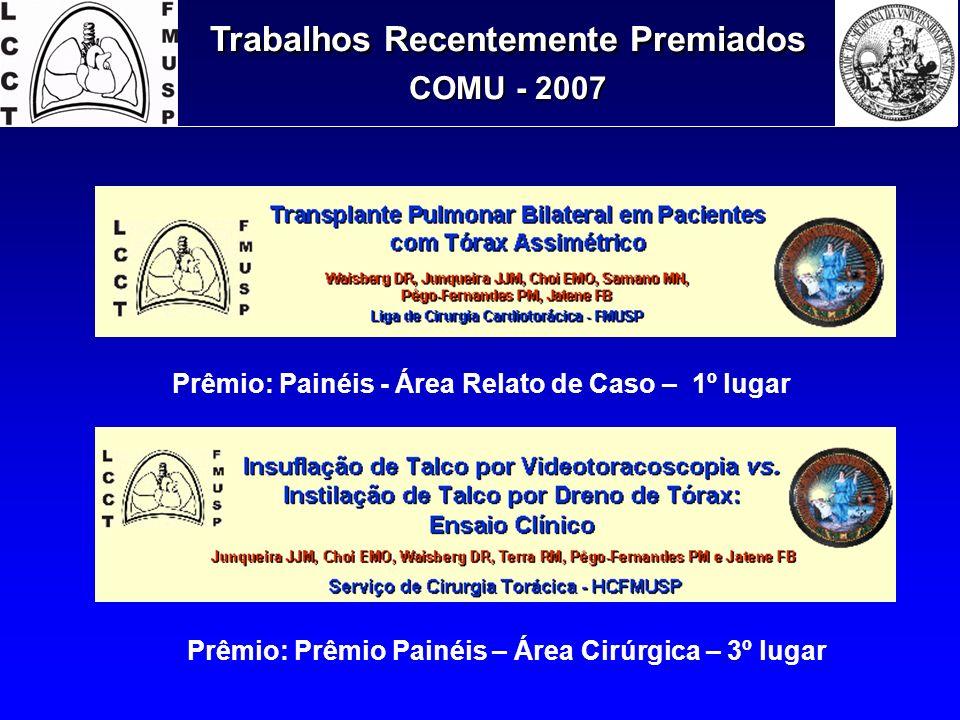 Trabalhos Recentemente Premiados COMU - 2007