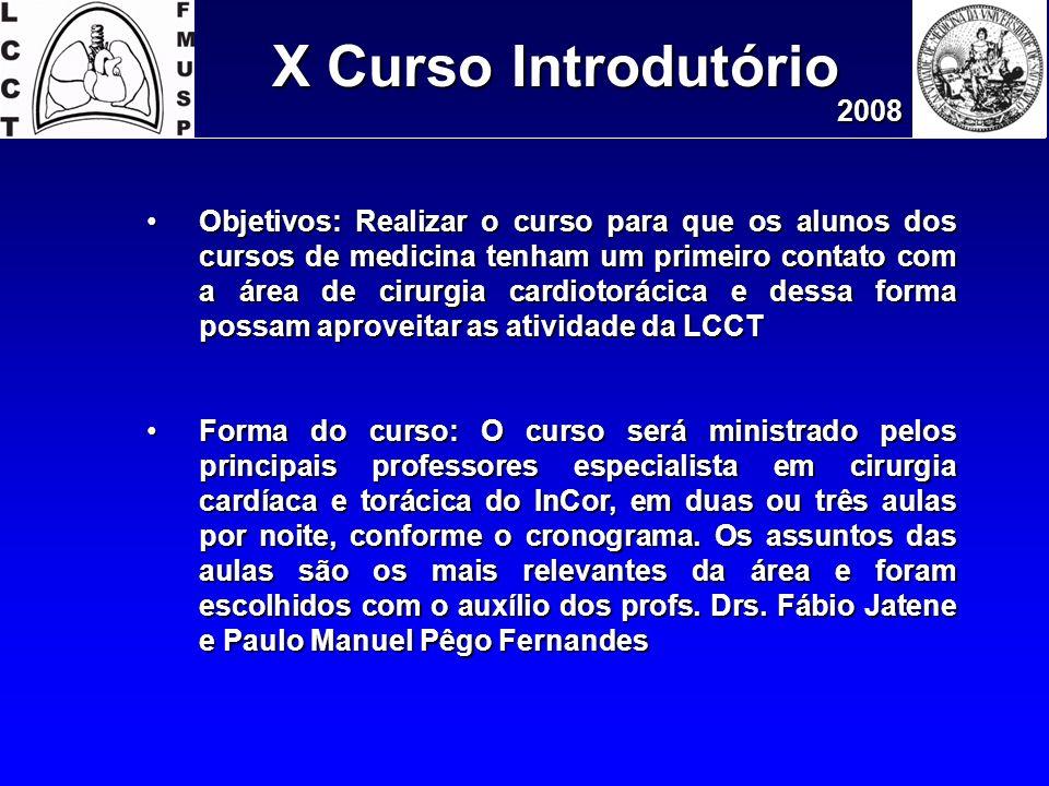 X Curso Introdutório 2008.