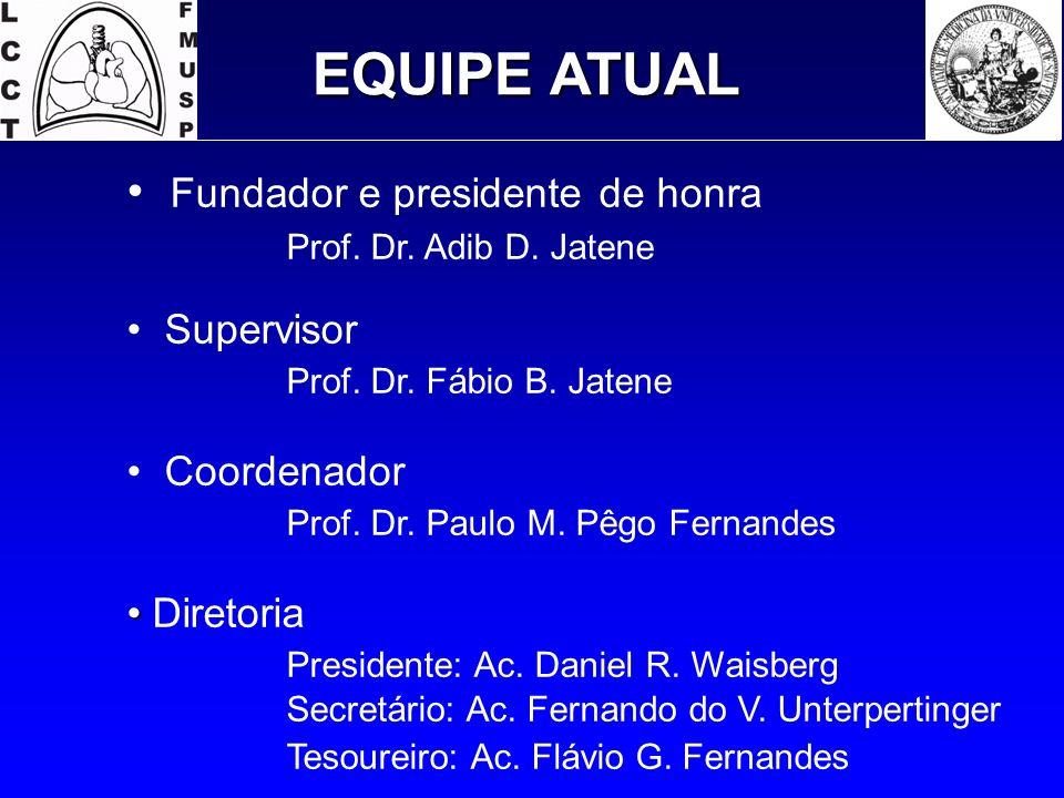 EQUIPE ATUAL Fundador e presidente de honra Prof. Dr. Adib D. Jatene