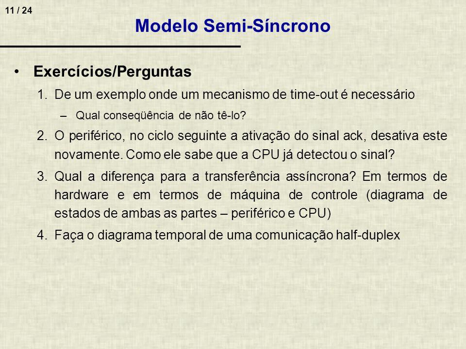 Modelo Semi-Síncrono Exercícios/Perguntas