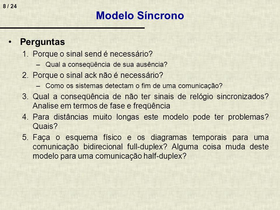 Modelo Síncrono Perguntas Porque o sinal send é necessário