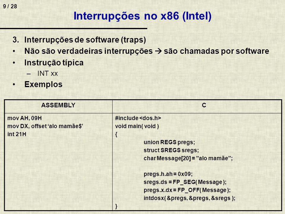 Interrupções no x86 (Intel)