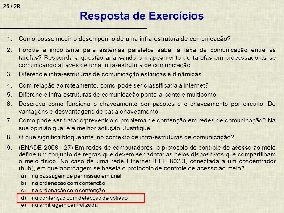 Resposta de Exercícios