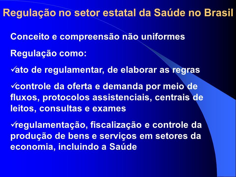 Regulação no setor estatal da Saúde no Brasil