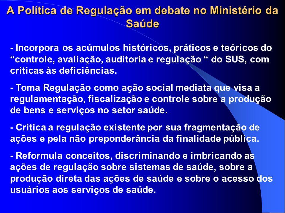A Política de Regulação em debate no Ministério da Saúde
