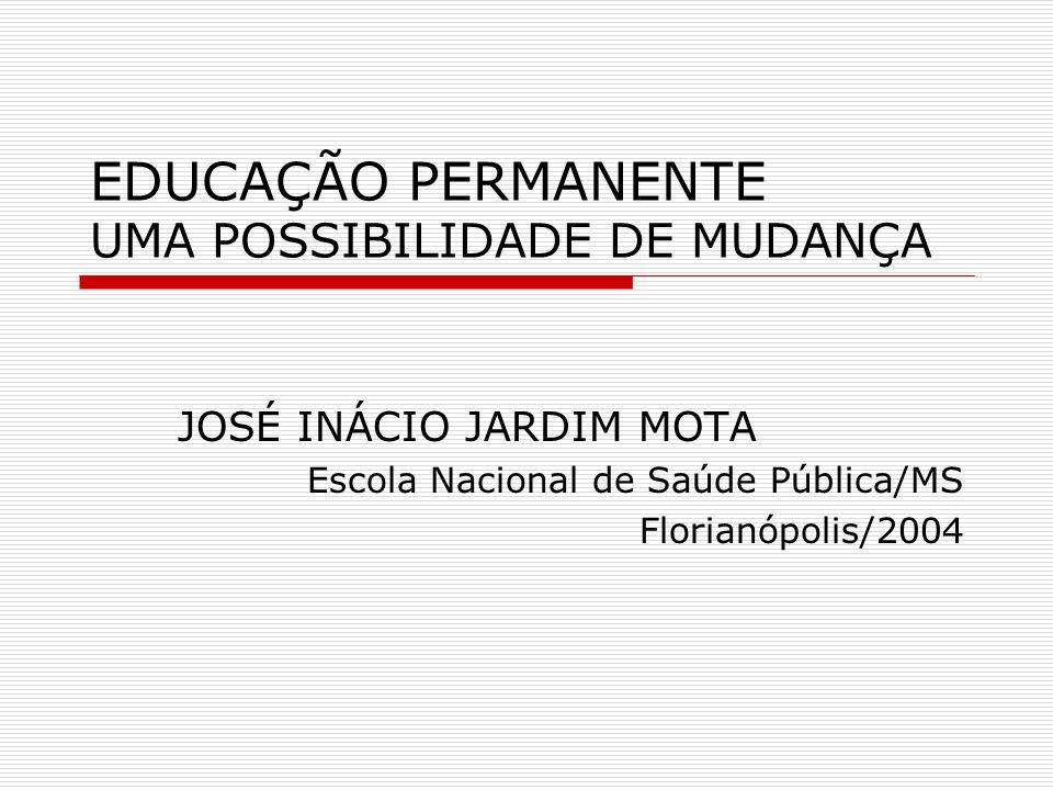 EDUCAÇÃO PERMANENTE UMA POSSIBILIDADE DE MUDANÇA