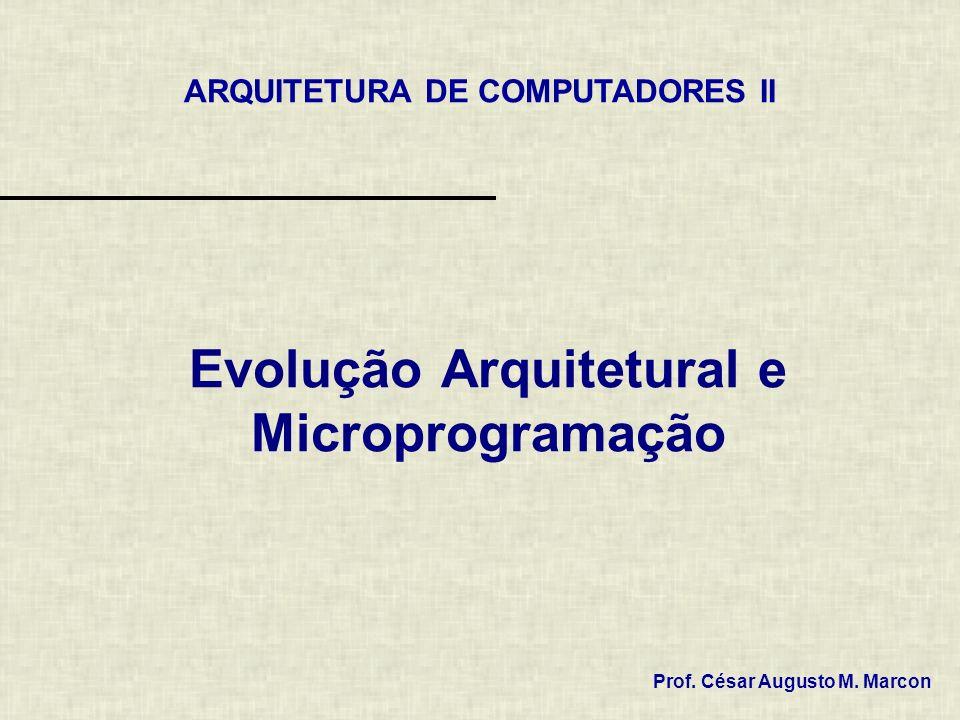 Evolução Arquitetural e Microprogramação