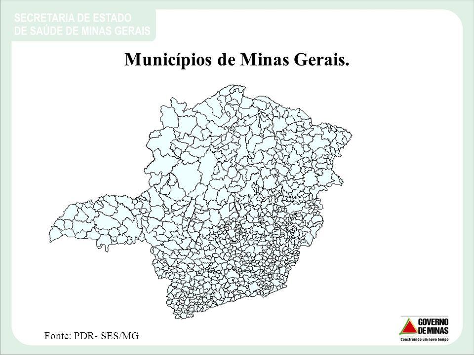 Municípios de Minas Gerais.