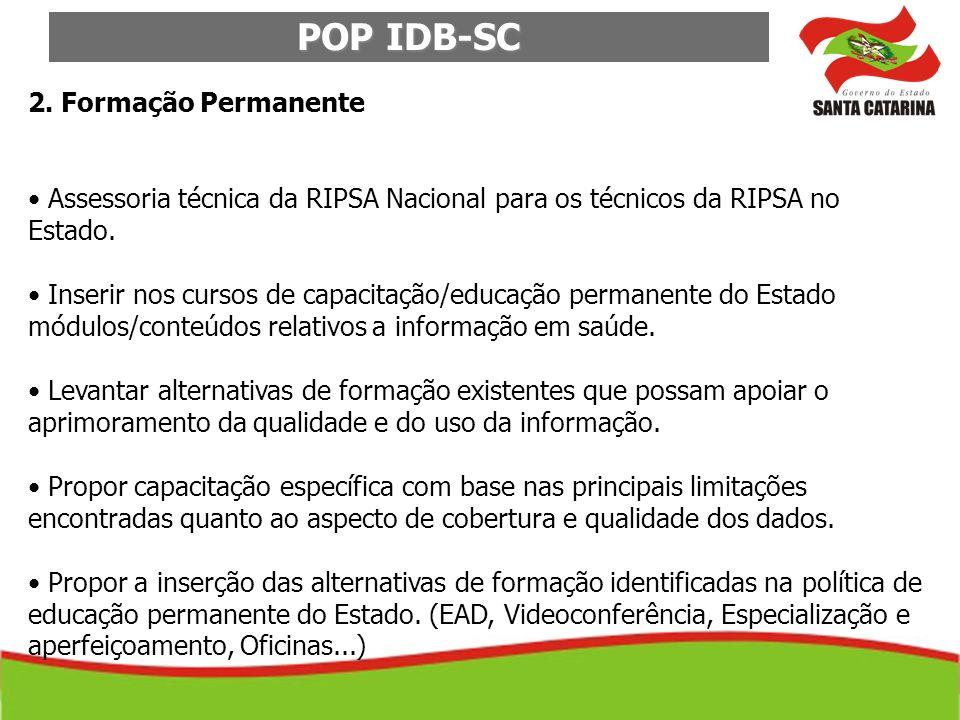 POP IDB-SC 2. Formação Permanente