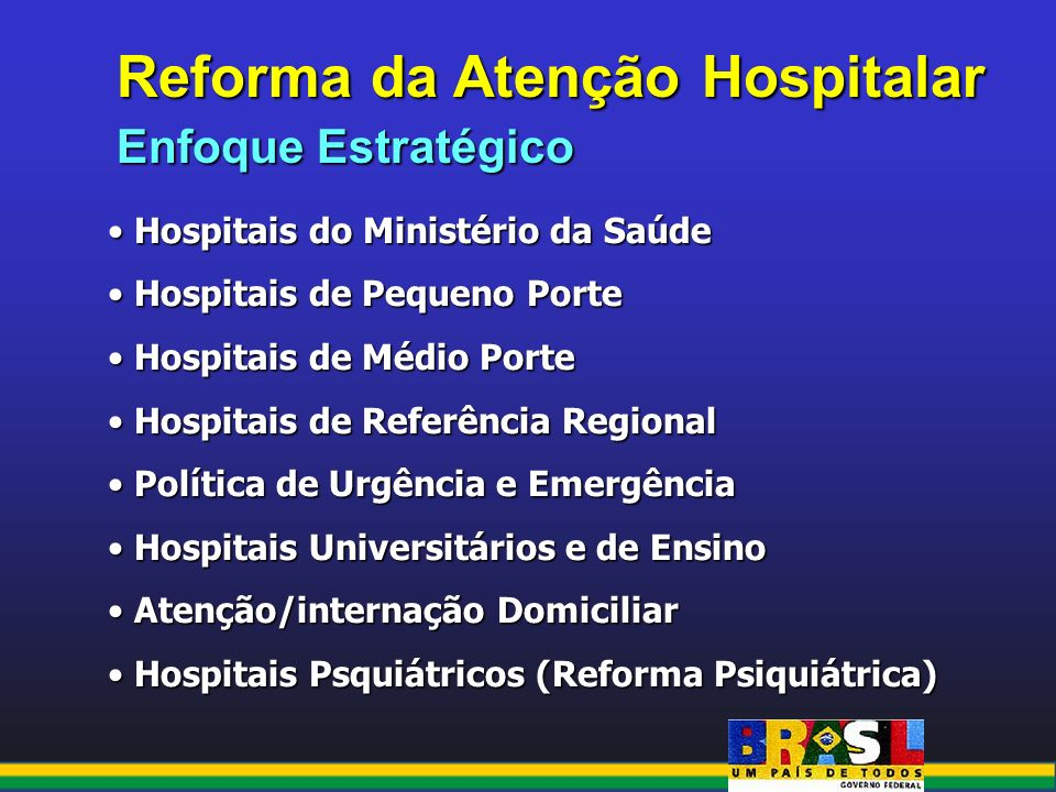 Reforma da Atenção Hospitalar